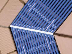 PVC-Rinnenrost 250mm Breite, gerade