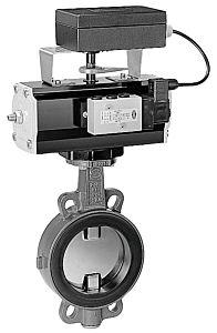 PVC-Absperrklappe pneum. DN 65