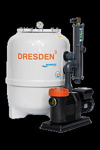 DRESDEN³-Filteranlage mit Stangenventil und frequenzgesteuerter Pumpe D500 - Deluxe ECO VS