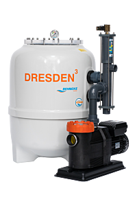 DRESDEN³-Filteranlage mit Stangenventil und frequenzgesteuerter Pumpe D600 - Deluxe ECO VS
