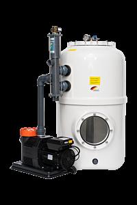 BÜHNE³-Filteranlage mit Stangenventil D500 - Deluxe ECO VS
