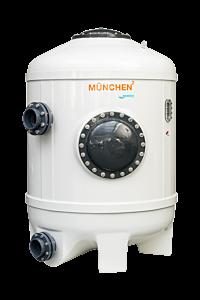 MÜNCHEN² Ø1000 Filterbehälter mit Düsenboden, Hochschicht