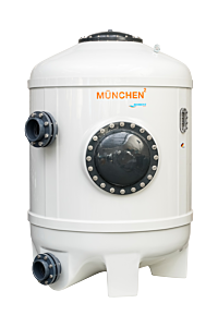 MÜNCHEN² Ø800 Filterbehälter mit Düsenboden, Hochschicht