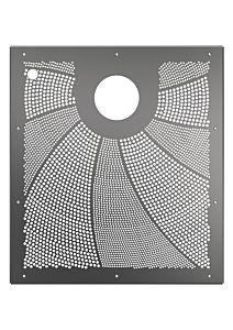 Blende EVA SquareX1 für Folienbecken (mit Ausschnitt-Piezotaster)